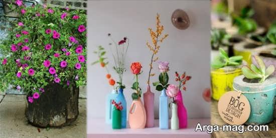 ساخت گلدان زیبا و خلاقانه