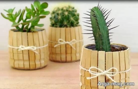 ساختن گلدان چوبی