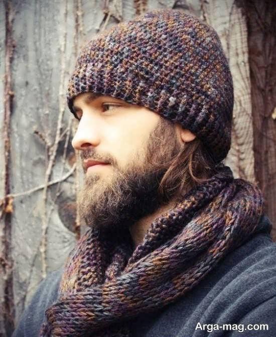 مدلهای جدید شال و کلاه بافتنی مردانه