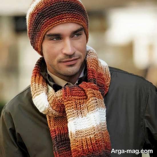 مدلهای جالب شال و کلاه بافتنی مردانه