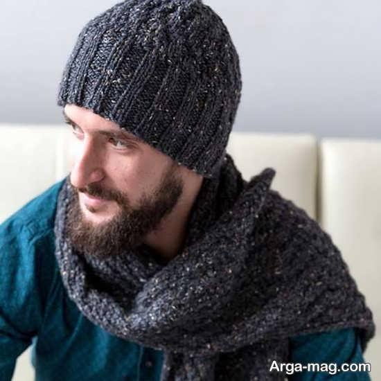مدلهای خاص شال و کلاه بافتنی مردانه