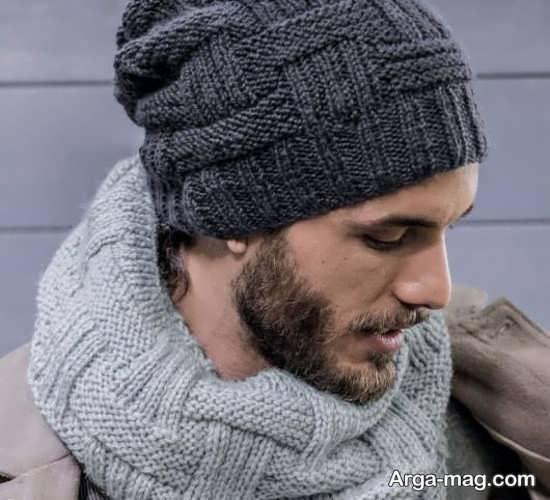 مدلهای دوست داشتنی شال و کلاه بافتنی مردانه