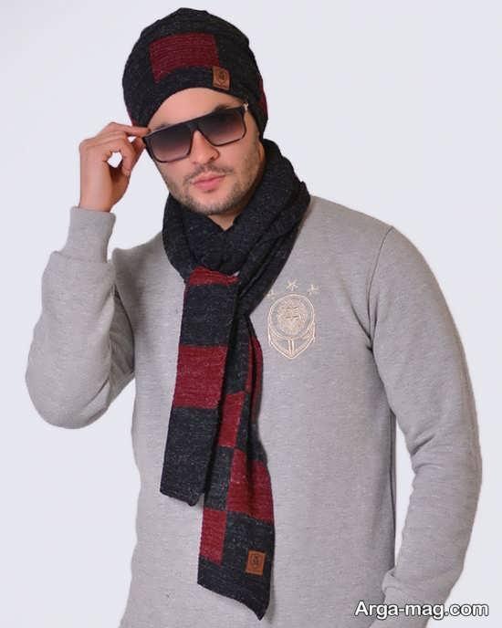 مدلهای دیدنی شال و کلاه بافتنی مردانه