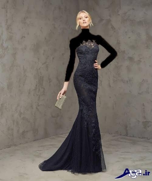 انواع دل های لباس مجلسی دخترانه با طرح بلند