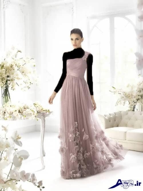 مدل لباس مجلسی دخترانه 2017 بلند