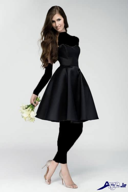 لباس مجلسی مشکی دخترانه 2017