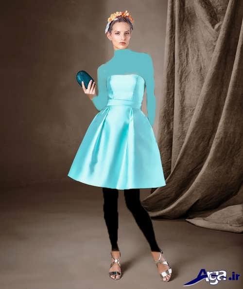 مدل لباس مجلسی دخترانه 2017 با طرح ساده
