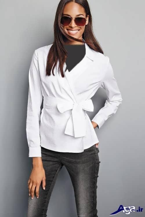 مدل بلوز زنانه سفید
