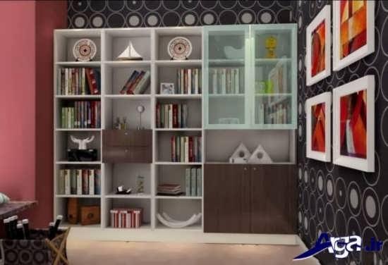 کتابخانه دیواری با طرح های شیک و زیبا