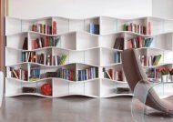 مدل کتابخانه دیواری ام دی اف و چوبی