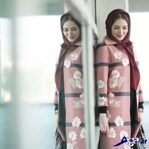 مدل مانتو طرح دار بازیگران ایرانی