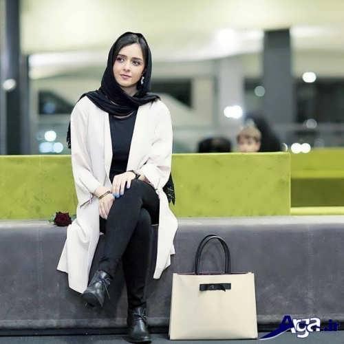 مدل مانتو ساده بازیگران ایرانی