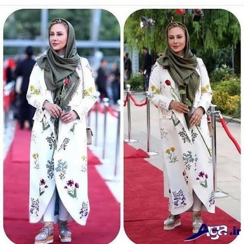 مدل مانتوی بازیگران ایرانی با طرح های زیبا