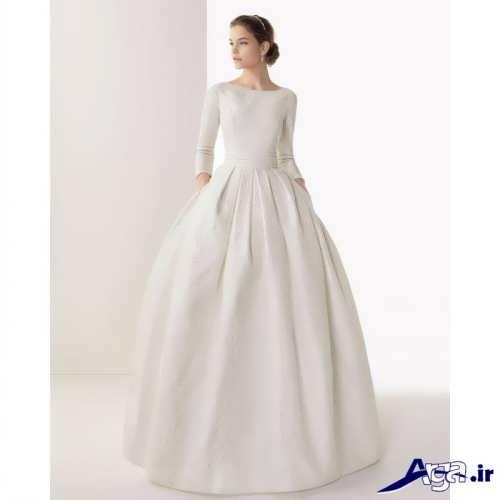 لباس عروس یقه قایقی بسته