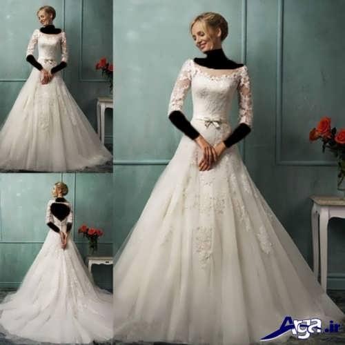 مدل لباس عروس یقه قایقی