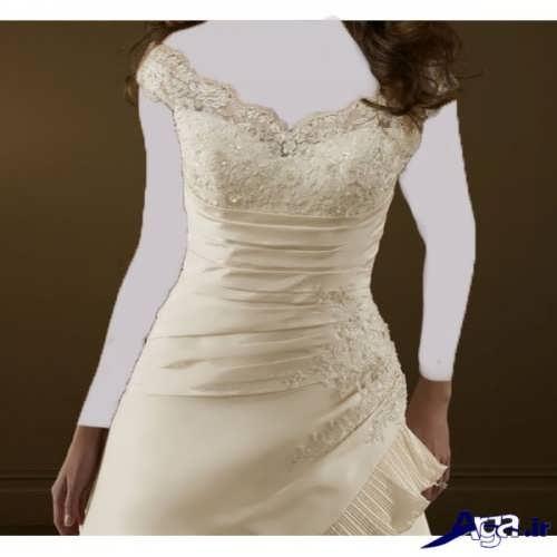 لباس عروس یقه قایقی با طرح های شیک و زیبا