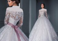 مدل لباس عروس یقه قایقی با طرح های زیبا و شیک