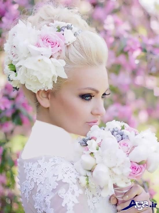 مدل شینیون عروس 2017 باز و بسته