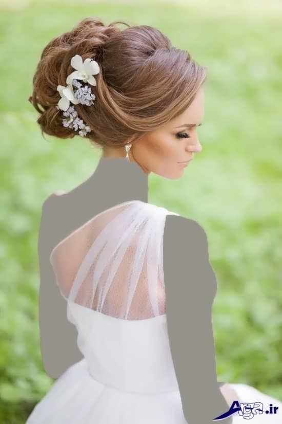 مدل شینیون زیبا و جذاب عروس