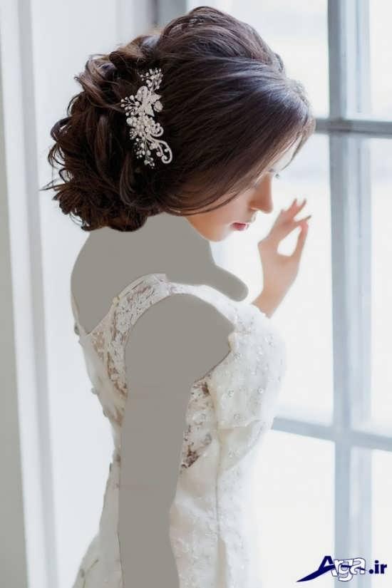 مدل آرایش موی بسته عروس زیبا و شیک