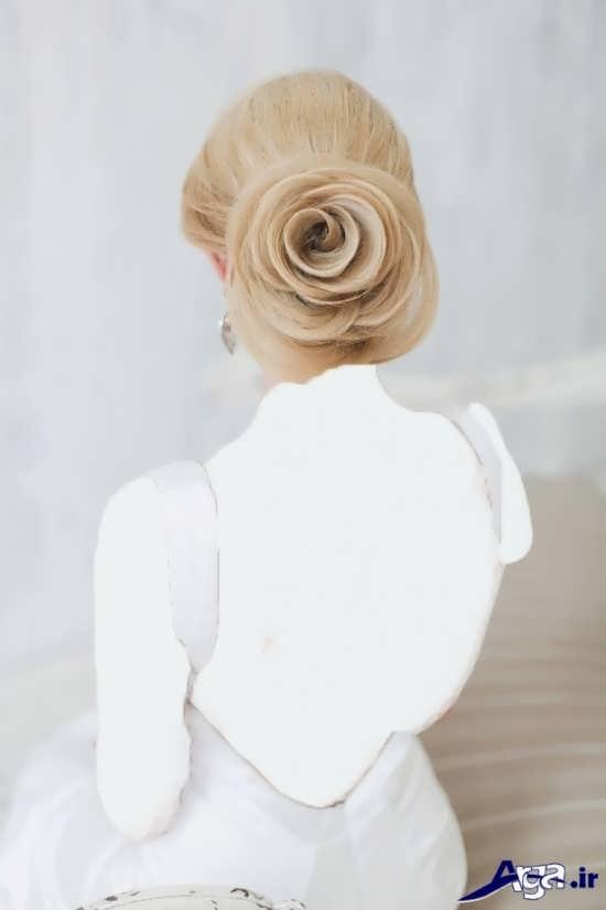مدل شینیون گل عروس