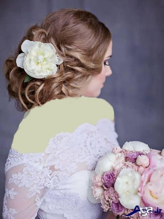 مدل شینیون بسته عروس زیبا