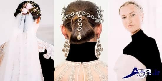 مدل شینیون بسته عروس با جدیدترین متدها