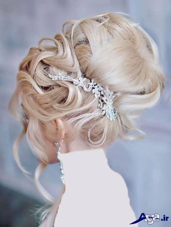 مدل شینیون بسته عروس زیبا و جدید
