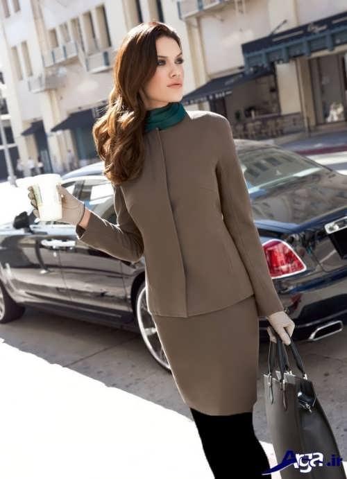 مدل کت و دامن ساده و رسمی زنانه