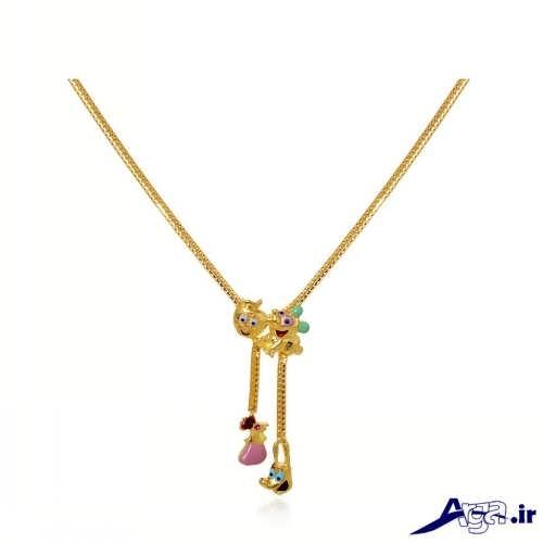 مدل گردنبند دخترانه طلا