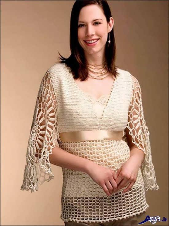 مدل لباس مجلسی قلاب بافی