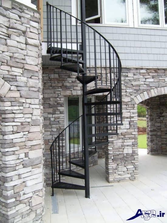 مدل راه پله خارجی ساختمان با طراحی جذاب و متفاوت