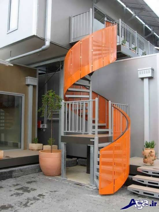 انواع طرح های راه پله گرد