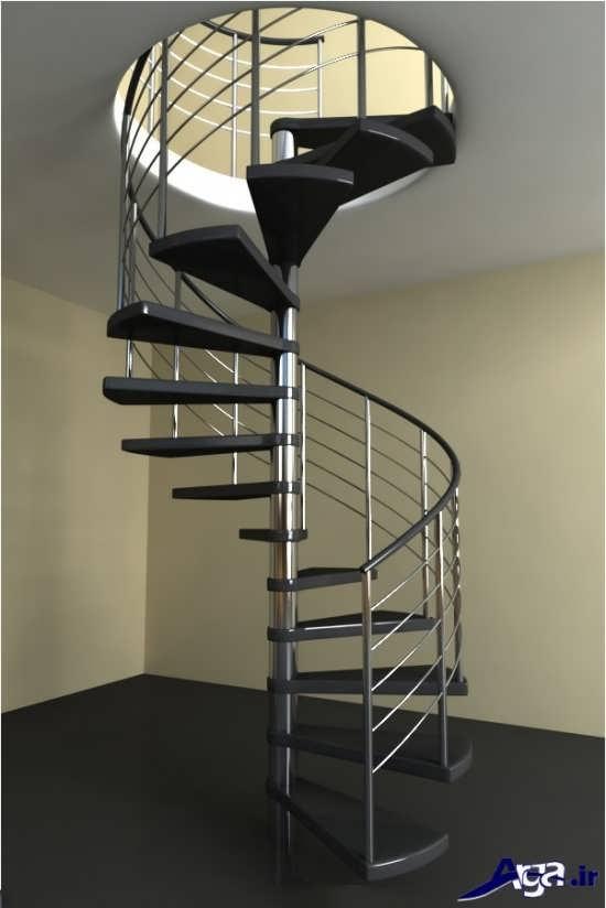 مدل راه پله فلزی
