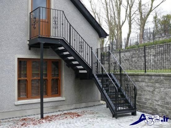 مدل های راه پله خارجی ساختمان شیک و زیبا