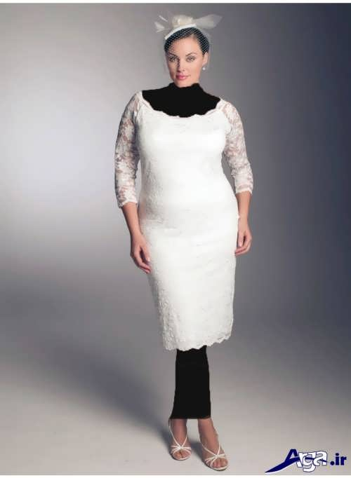 لباس عروس کوتاه با طرح ساده