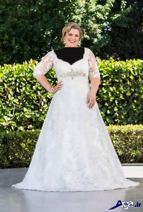 لباس عروس شیک و زیبا برای افراد چاق
