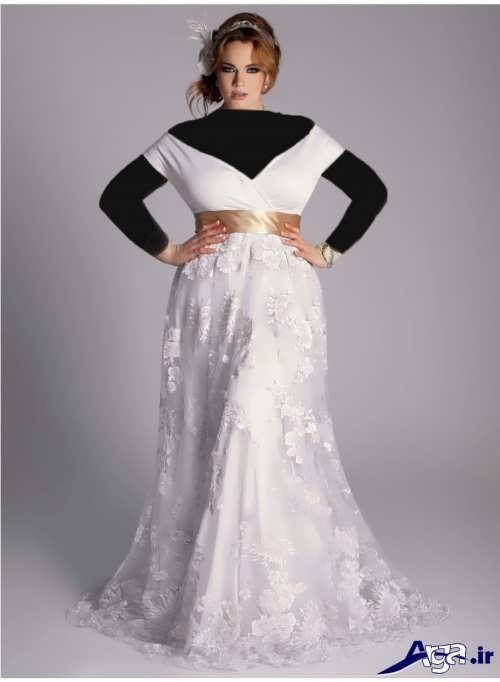 مدل لباس عروس با یقه هفت