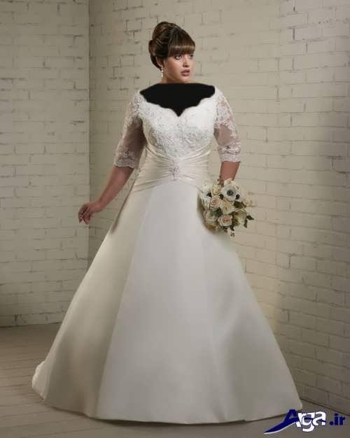 مدل لباس عروس برای خانم ها با اندام چاق