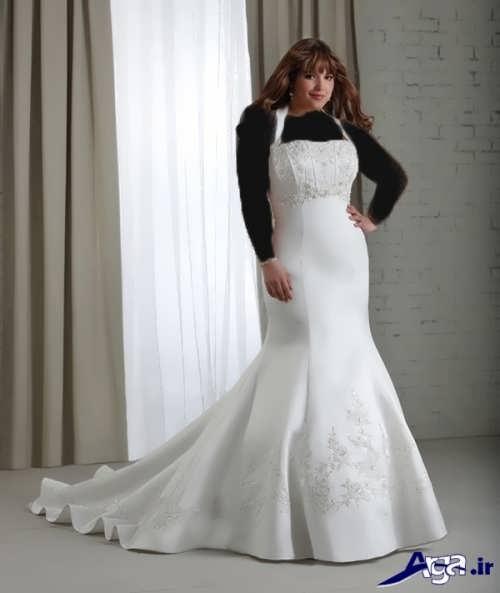 لباس عروس زیبا و شیک دنباله دار
