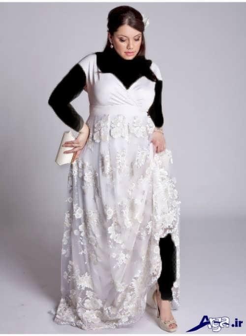 لباس عروس با طرح بلند