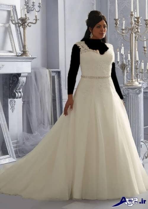 مدل لباس عروس بلند دنباله دار