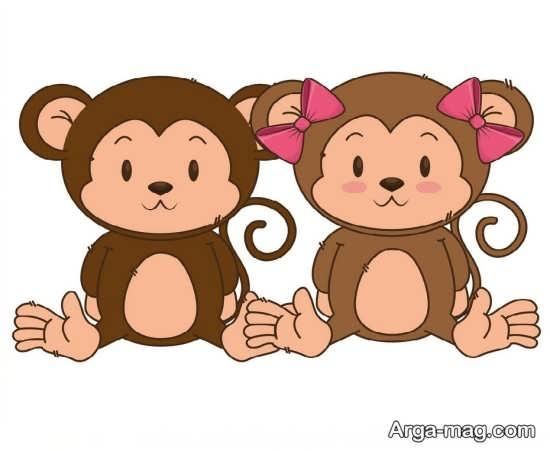 رنگ آمیزی جالب میمون