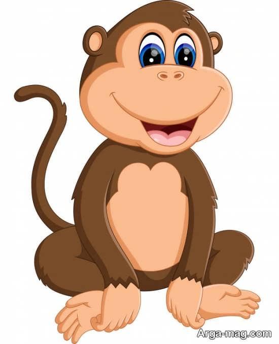 طراحی میمون با رنگ آمیزی بی نظیر