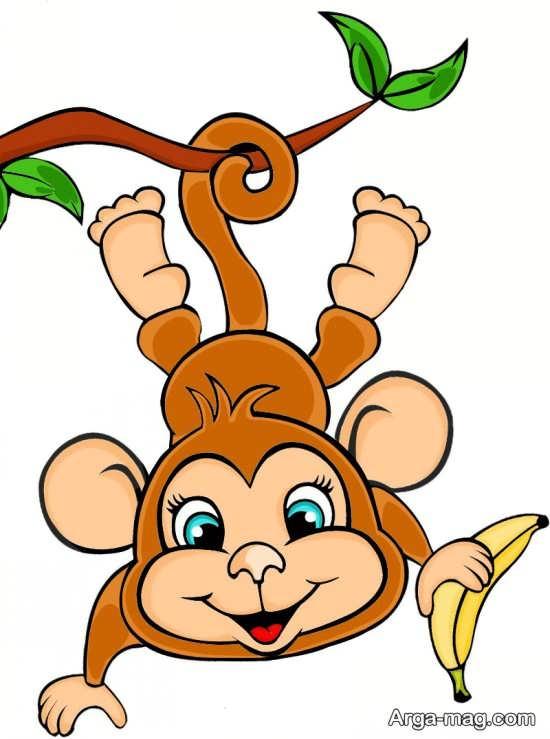 رنگ آمیزی دوست داشتنی میمون