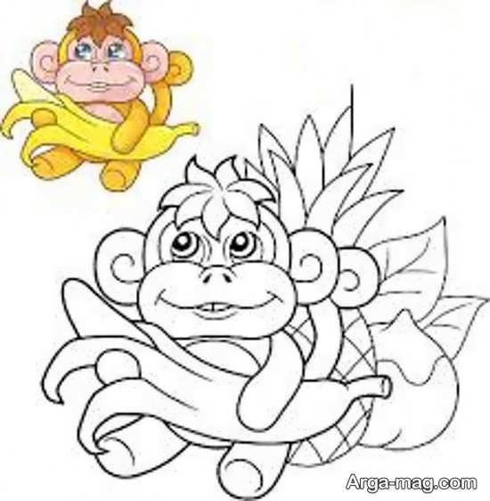 قشنگ ترین نقاشی میمون