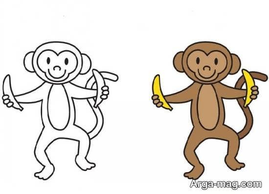 بامزه ترین نقاشی میمون