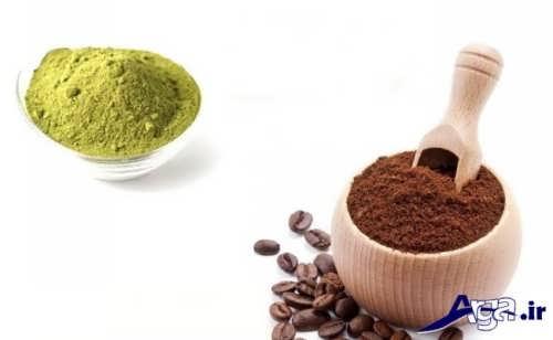 ترکیب حنا و قهوه برای تهیه رنگ موی طبیعی