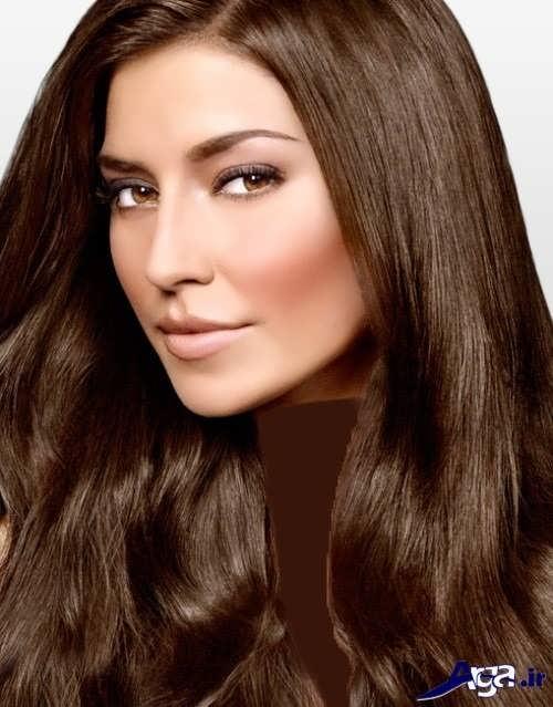 رنگ مو زیبا قهوه ای طبیعی