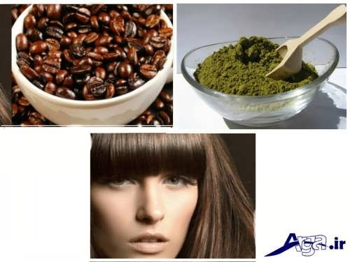 ساخت رنگ موی طبیعی با حنا و قهوه